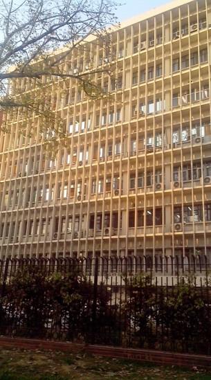 निर्माण भवन की इमारत।