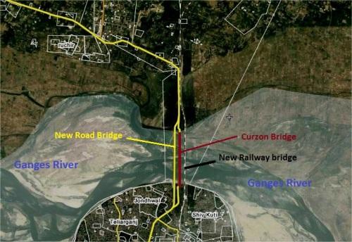 कर्जन ब्रिज का गूगल मैप।
