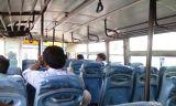 यात्रा प्रारम्भ। अमेठी के पास बस में।