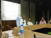 पूर्वोत्तर रेलवे की अपनी अंतिम विभागीय बैठक को चेयर करते श्री कृष्ण कुमार अटल।