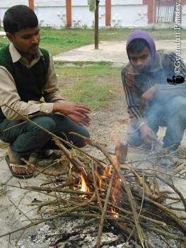 कउड़ा, रामबचन (बायें) और शिवचन्द