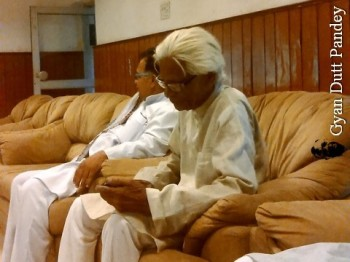 पूर्वोत्तर रेलवे के ब्राण्ड अम्बेसडर श्री कन्हैयालाल गुप्ता। यूनियन नेता। उम्र 98 साल।