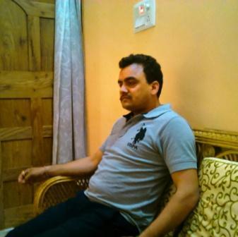 प्रमेन्द्र (सोनू) उपाध्याय। यह चित्र तब का है, जब वे मेरे गांव स्थित घर में मिलने आये थे।
