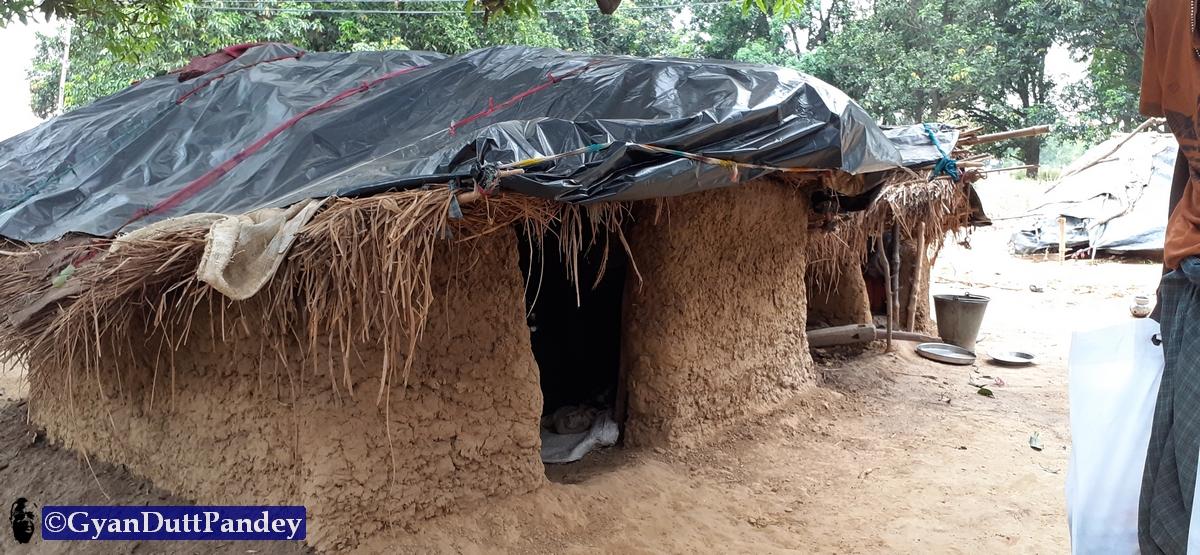 मुसहर बस्ती के चित्र#गांवकाचिठ्ठा