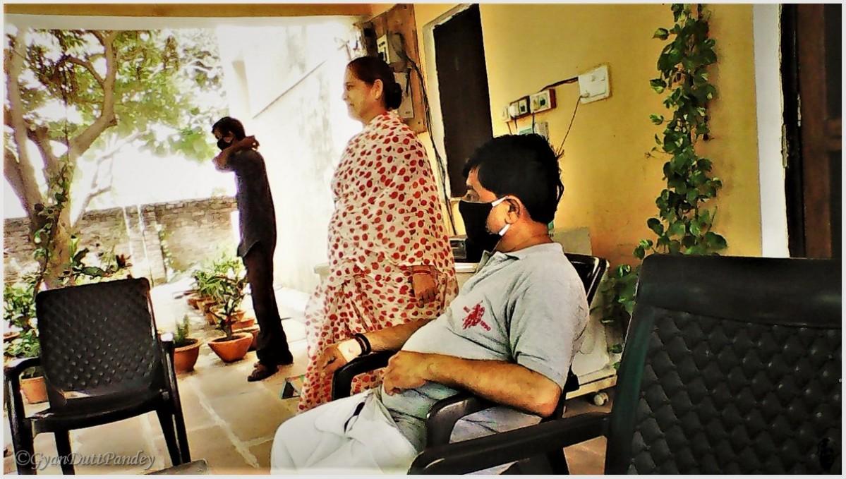 मेरे समधी, रवींद्र कुमार पाण्डेय का कोरोना संक्रमण औरउबरना
