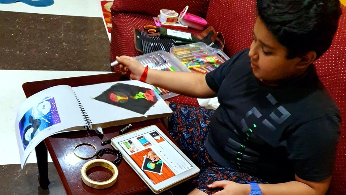 विवस्वान पांड़े की ऑनलाइन क्लासें, कोडिंग, तबला औरपेण्टिंग