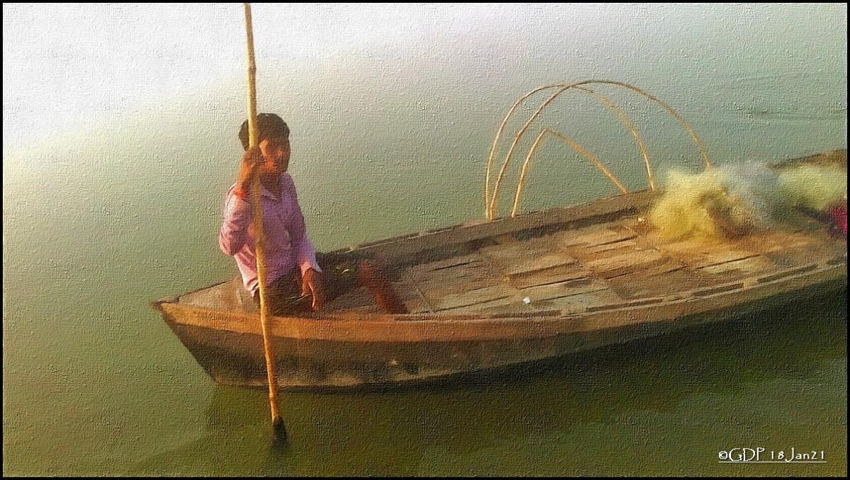 विष्णु मल्लाह – गंगा-नाव-मछली ही उसका जीवनहै!